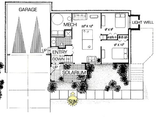 Prairie Solar Home Green Home Split Level House Plan Split Level House Plans Retirement House Plans House Plans