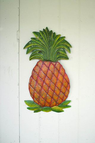Kalalou Hand Hammered Recycled Metal Pinele Wall Hanging This Colorful Is Painted In Haiti And Can Be Easily Hung For A Tropical