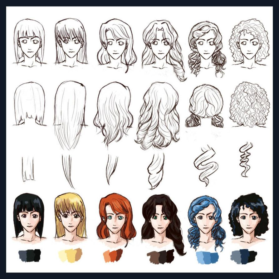 Strange 1000 Images About Drawing Hair On Pinterest Curly Hair Drawing Hairstyle Inspiration Daily Dogsangcom
