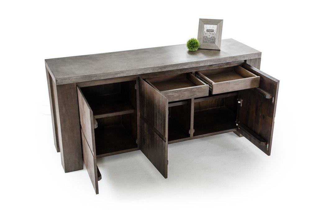 Vig Furniture Metro Modern Concrete Top Buffet Table VGDEU1504V