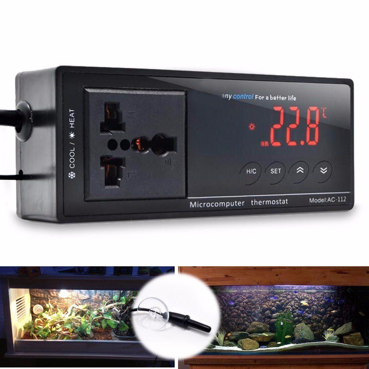 220V LCD Digital Thermostat Incubator Reptile Snake