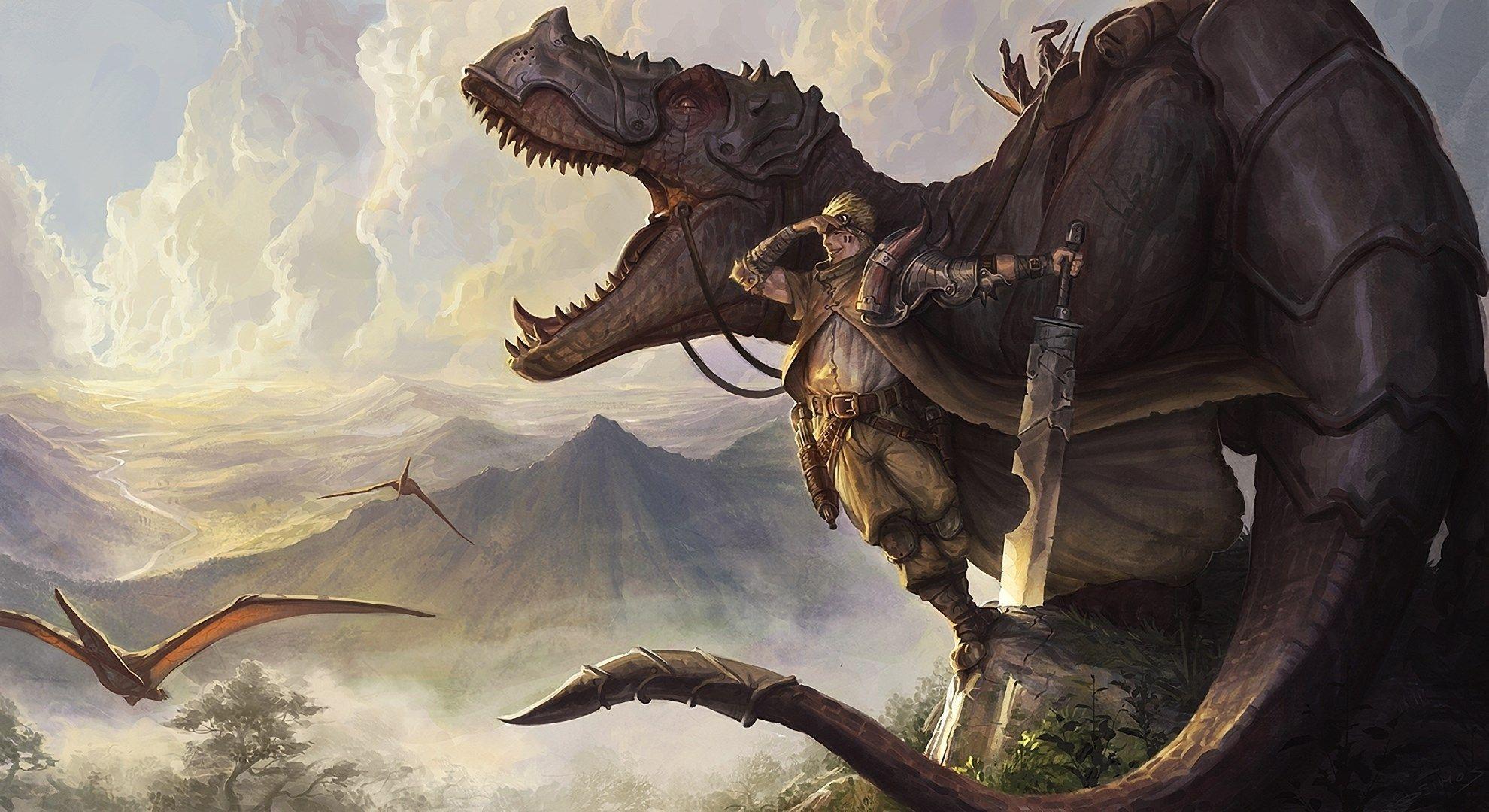 High Resolution Wallpaper adventure Dinosaur art