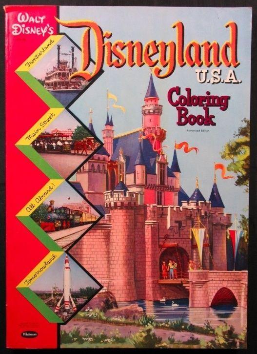 Disneyland U.S.A. Coloring Book, 1957   Disney - Coloring & Activity ...