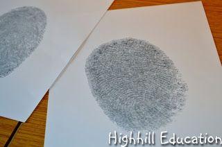 Highhill Homeschool: Human Body Unit - Fingerprints