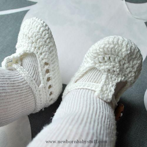 Crochet Baby Booties Ravelry One Strap Baby Sandals Pattern By