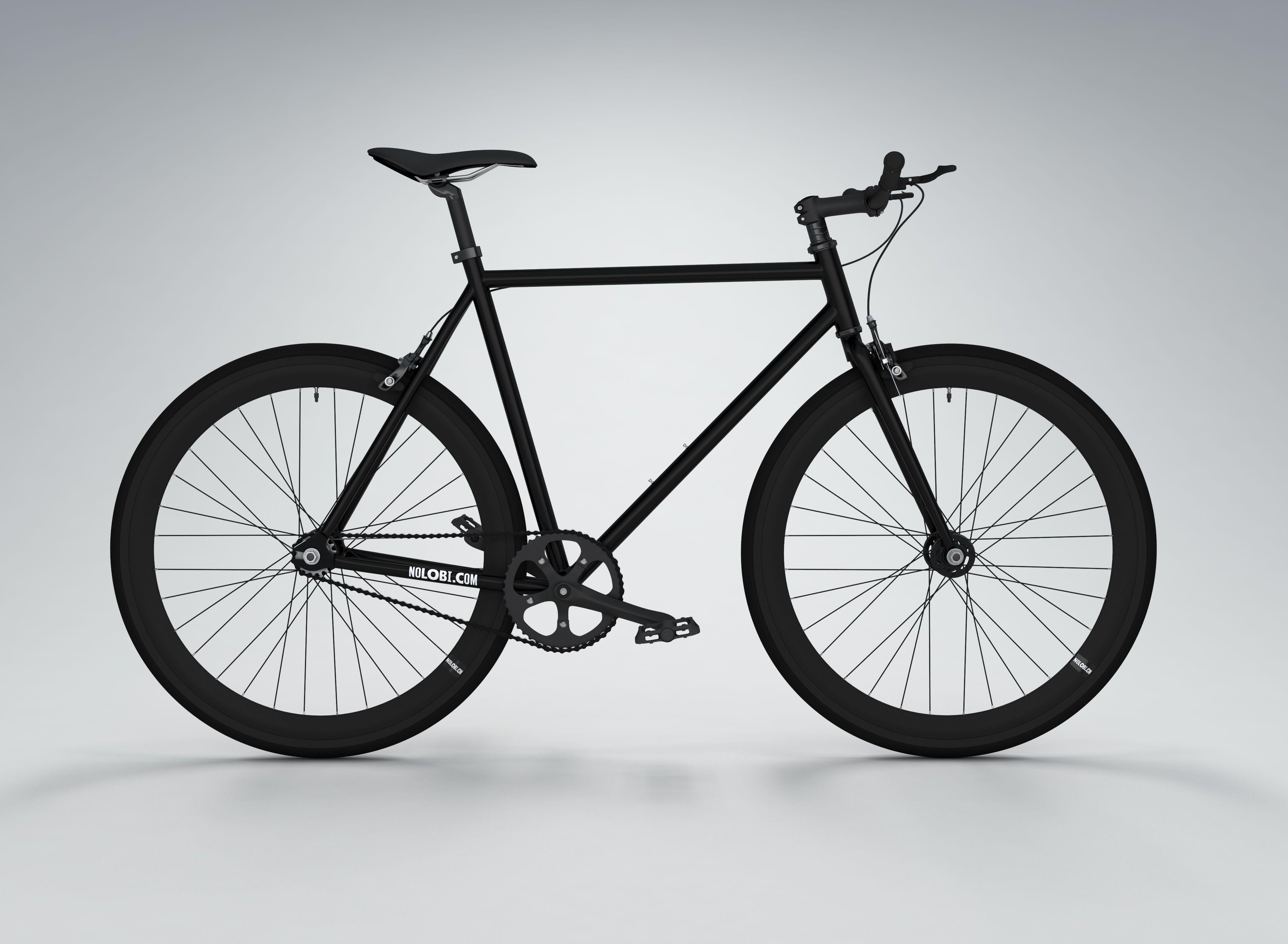 Allblack Single Fixed Gear Single Speed Bike Www Nolobi Com Shop
