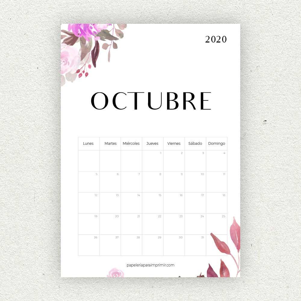 Calendario Belen 2020.Calendario Octubre 2020 Para Imprimir Calendario Calendar