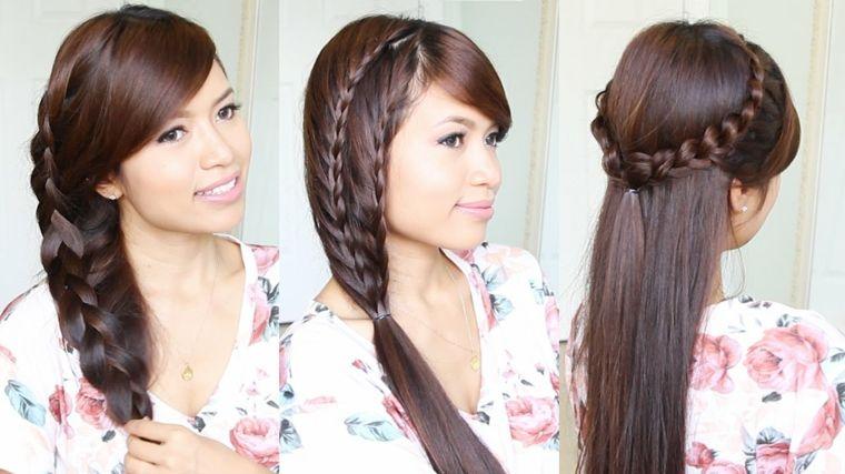 trenzas modernas peinados sencillos Pinterest Peinado fácil