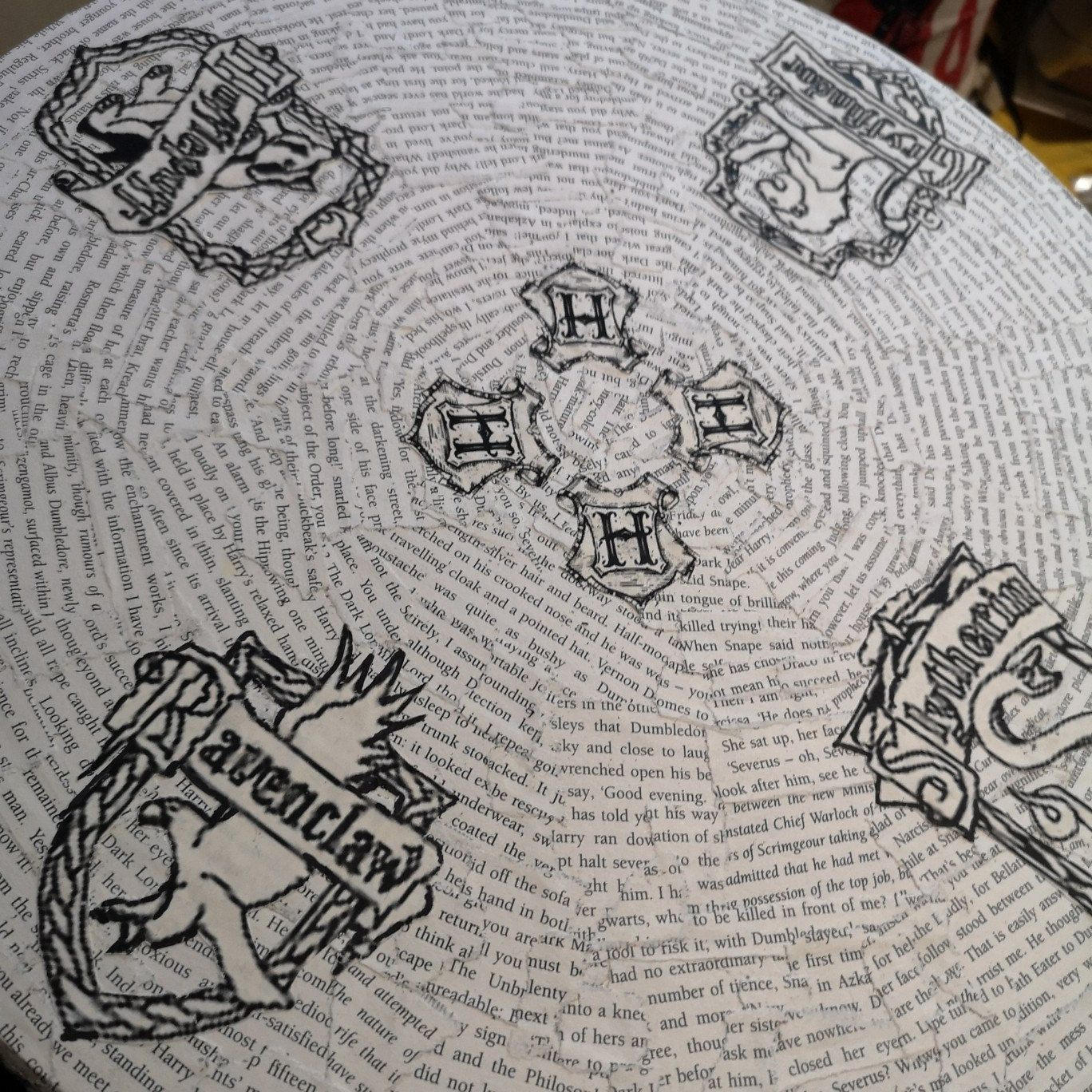 Here's my Harry Potter Lazy Susan so far or as I like to call it the