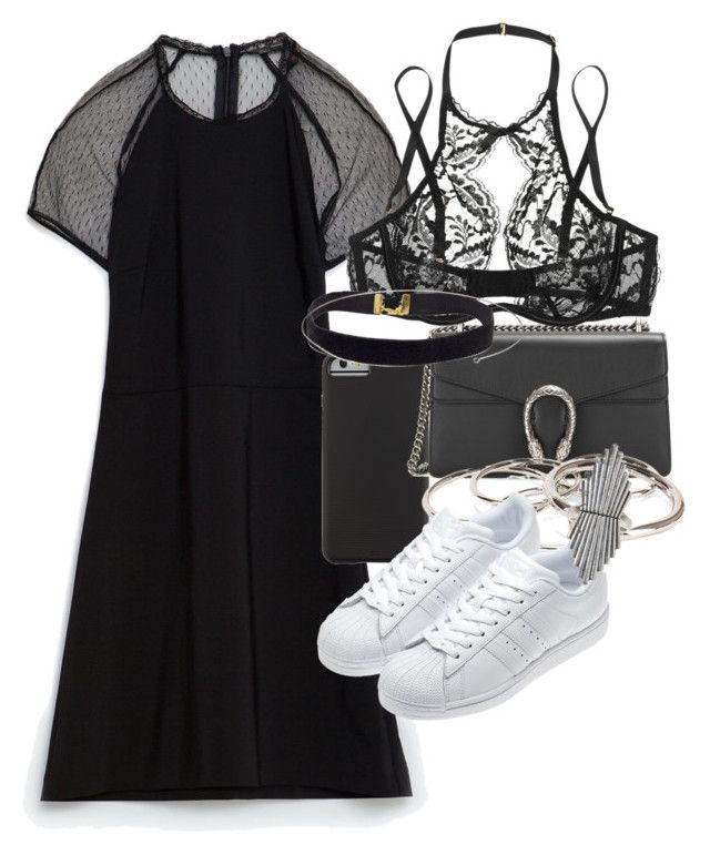 """""""Başlıksız #358"""" by cattieson ❤ liked on Polyvore featuring Zara, Case-Mate, Gucci, Pieces, adidas, Agent Provocateur and Lucky Brand"""