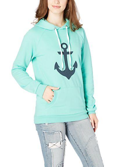 Light Green Anchor Hoodie
