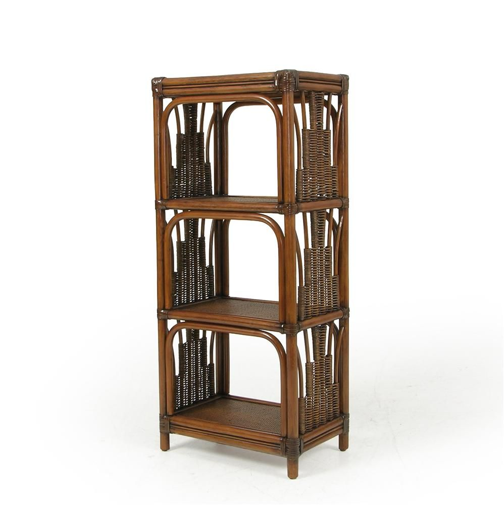 Bali Small Open Bookcase Etagere By Palm Springs Rattan