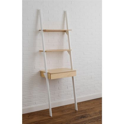 Habitat Jai Ladder Shelving Unit With Desk White At Homebase Be Inspired And