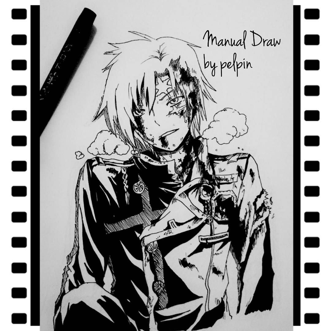 My draw with spidol and pen black and white sketch allen