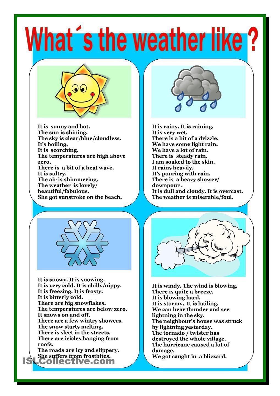 Weather | English | Pinterest | Weather, English and Learning english