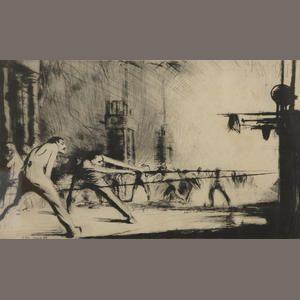 James McBey (Scottish: 1883-1959) | 'France at her Furnaces'