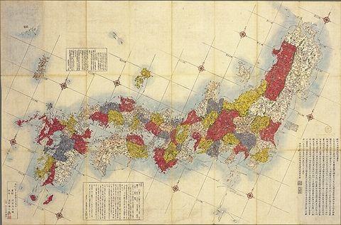 地図 江戸 時代 日本