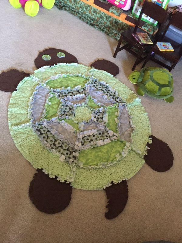 Turtle Rag Quilt | crafts | Pinterest | Rag quilt, Turtle and Babies : turtle rag quilt - Adamdwight.com