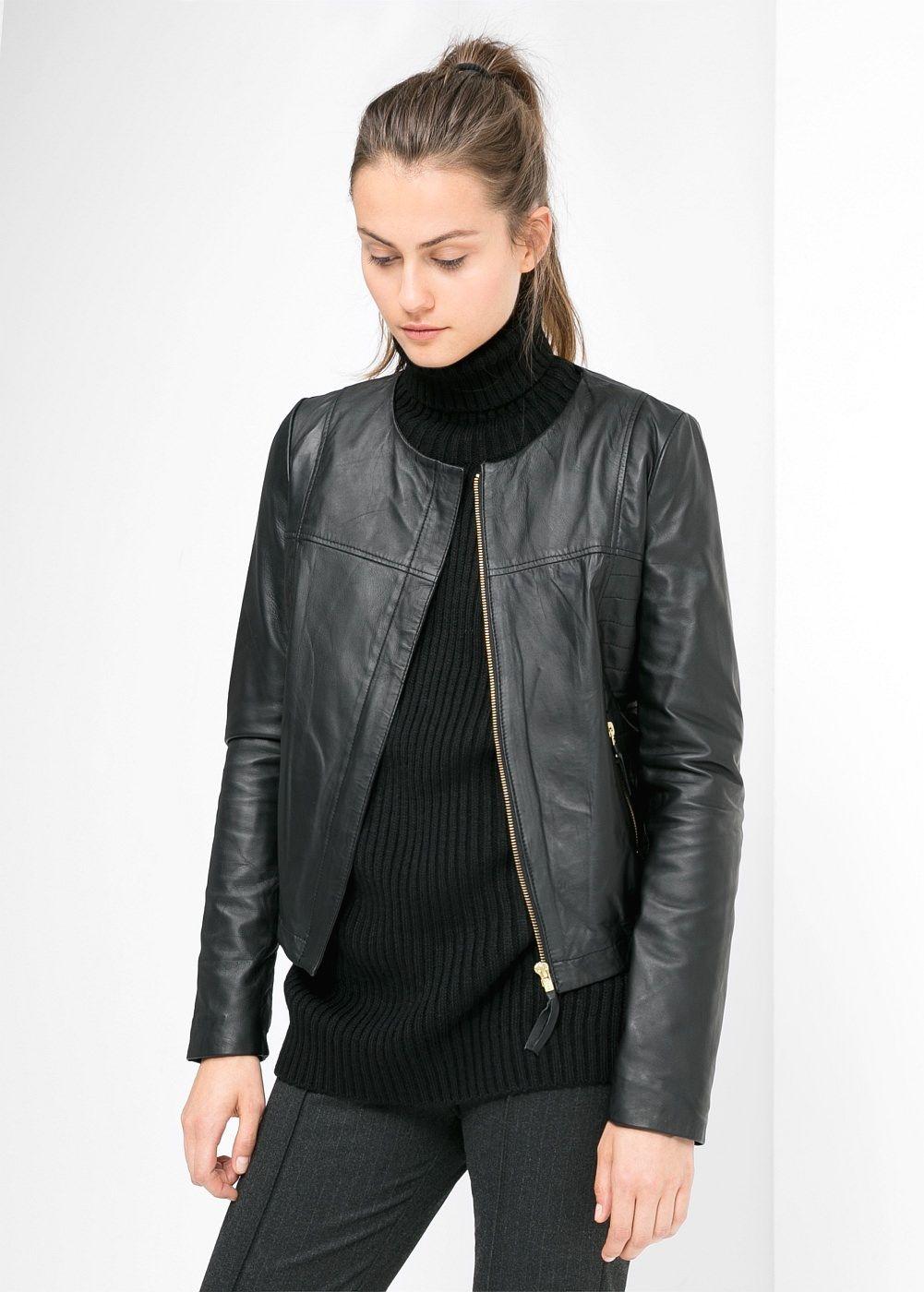 Leather Bomber Jacket Women Mango Usa Bomber Jacket Women Leather Bomber Jacket Women Leather Jackets Women [ 1400 x 1001 Pixel ]