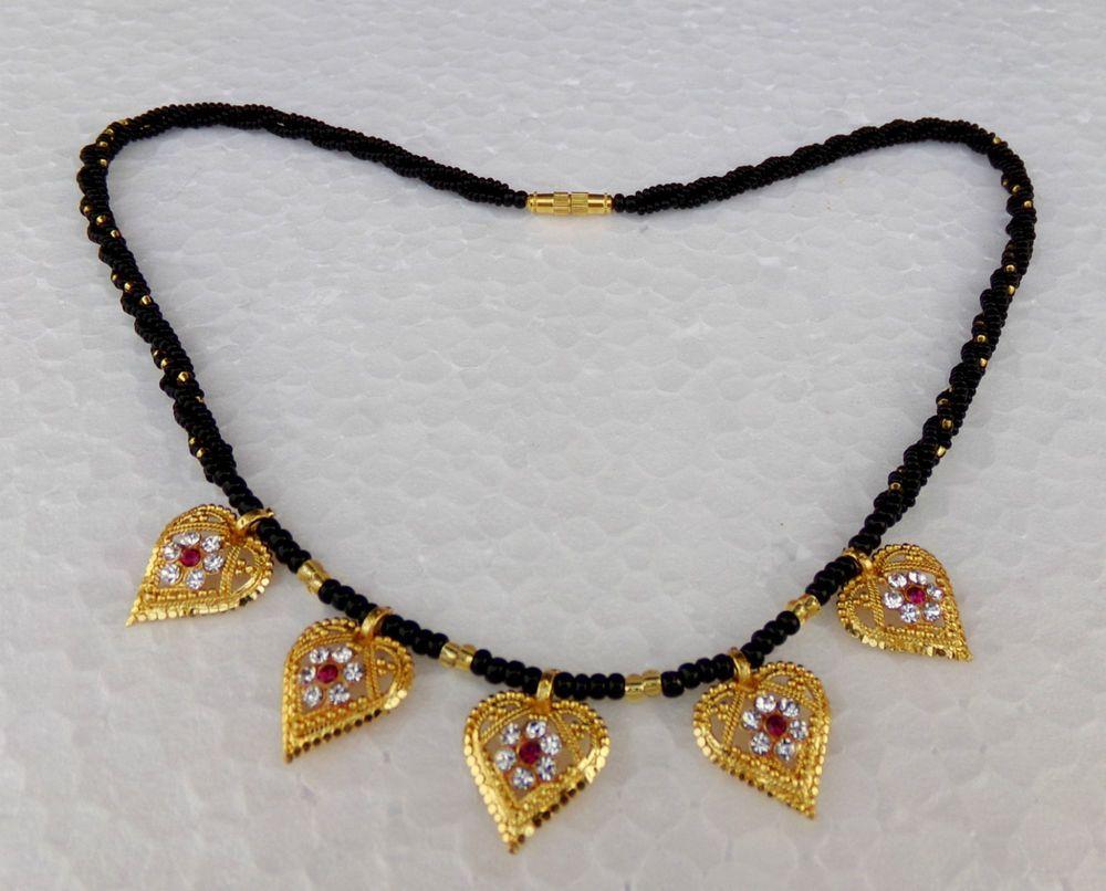 Traditional women gold plated ethnic kanthi mangalsutra set indian