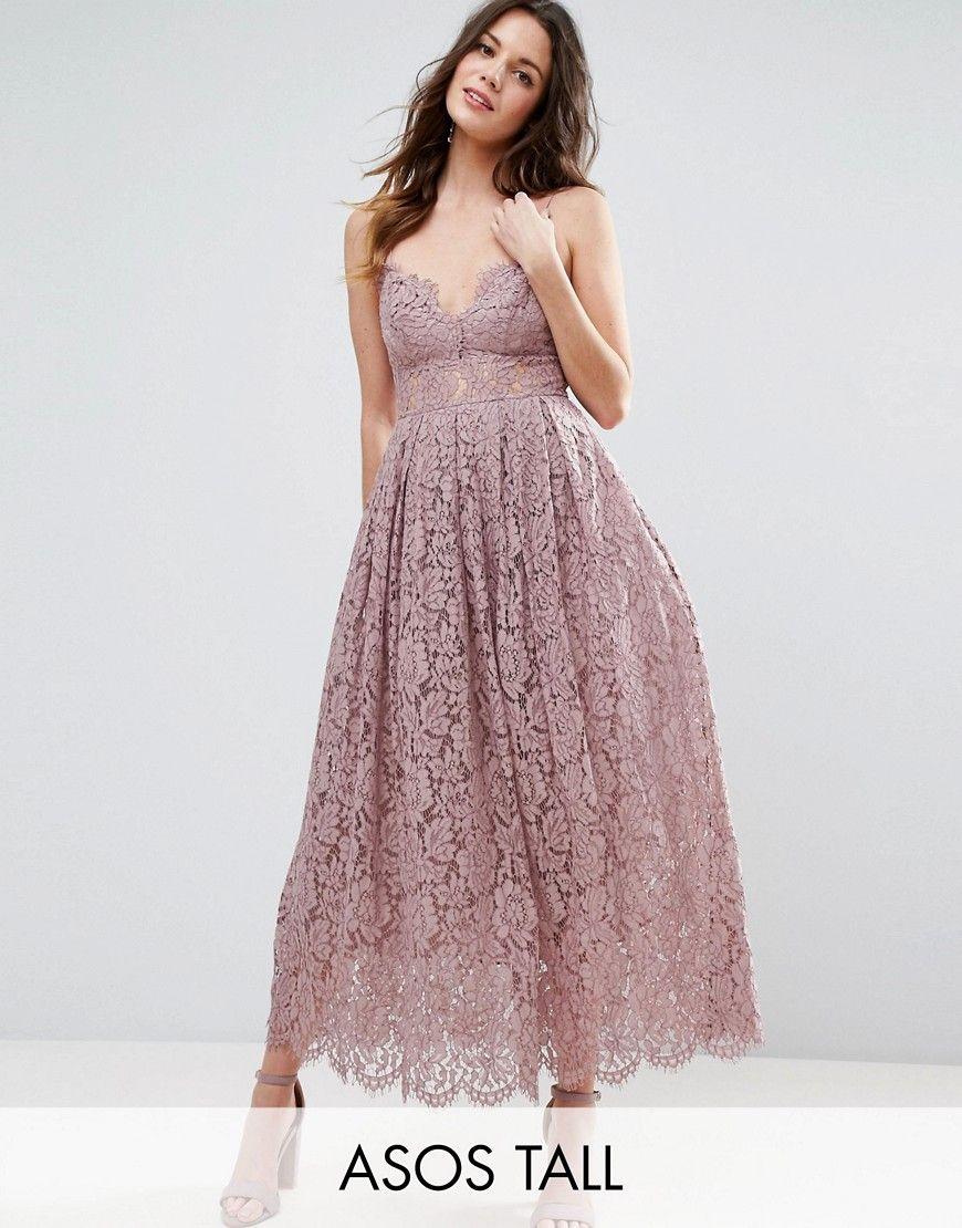 1950s Prom Dresses Party Dresses Asos Tall Lace Cami Midi Prom Dress Purple 119 00 At Vintagedancer Com Prom Dresses Midi Prom Dress Purple Lace Dress [ 1110 x 870 Pixel ]