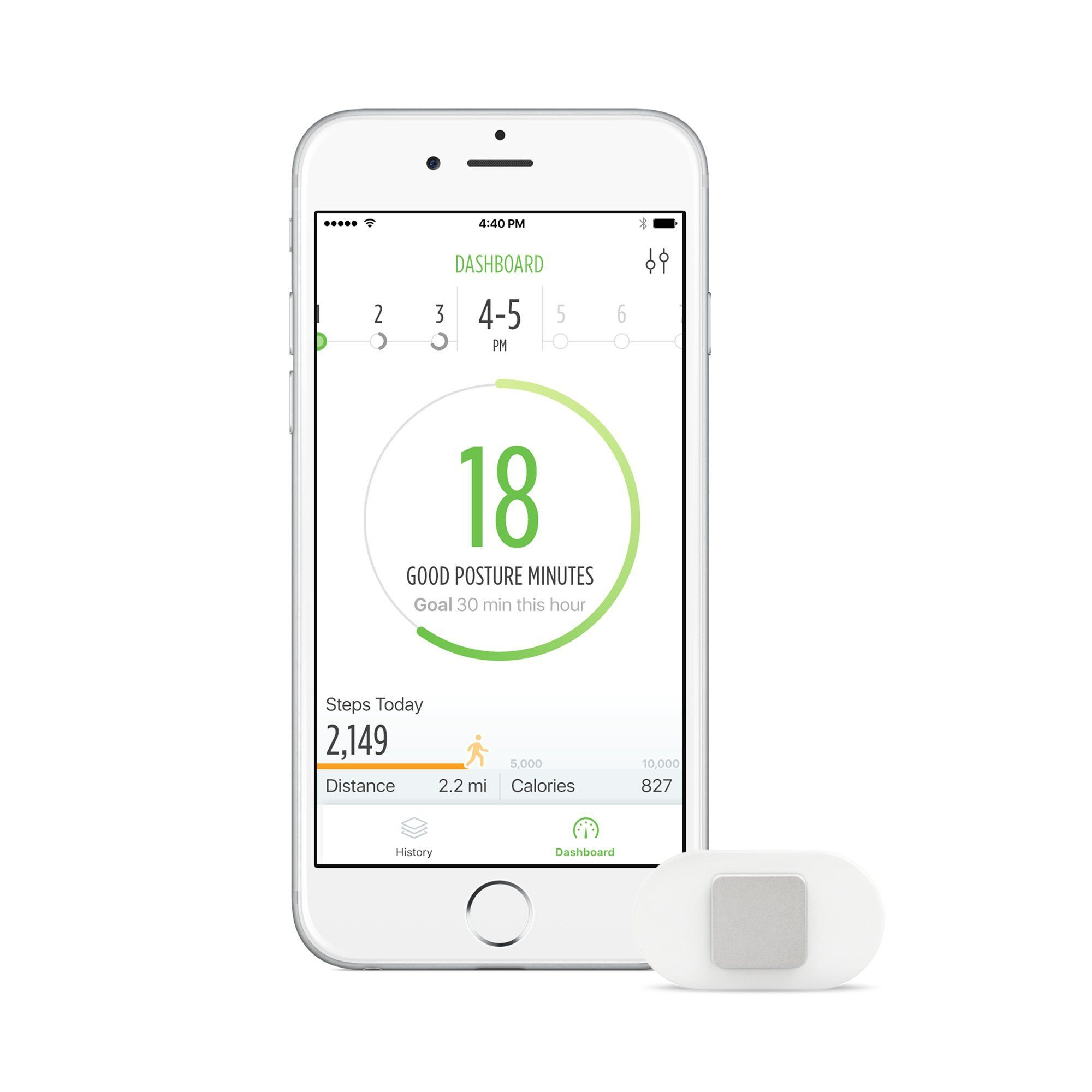 Lumo Lift Posture Coach and Activity Tracker (requires the