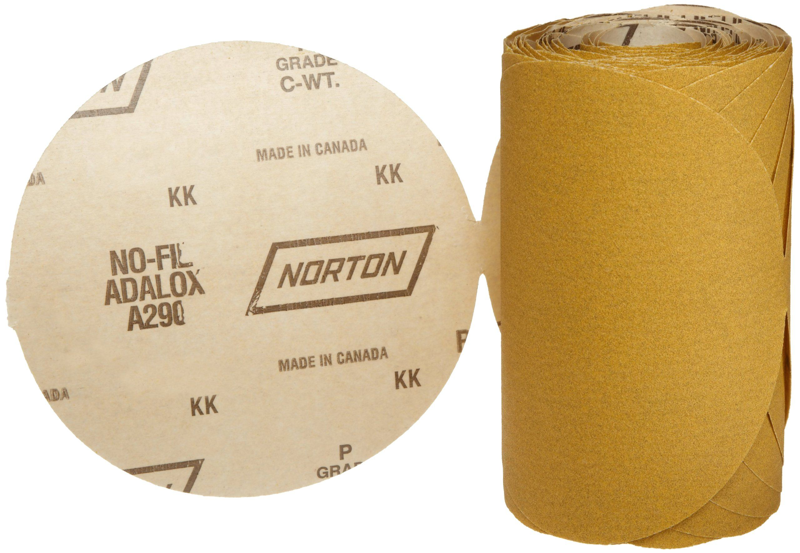 Aluminum Oxide PSA Attachment Roll of 125 3M  Stikit  Gold Paper Disc Roll 216U Gold 5 Diameter P100 Grit Paper
