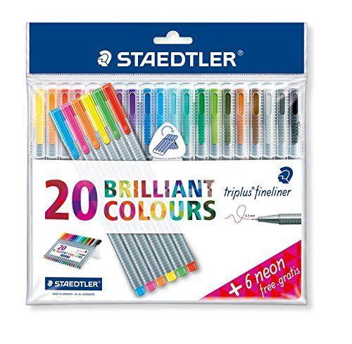 STAEDTLER TRIPLUS FINELINER 20 BRILLIANT COLOURS 0.3MM
