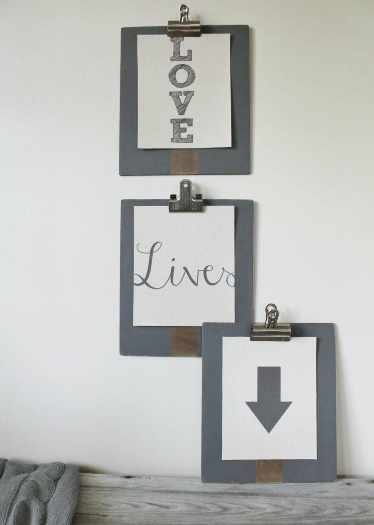 Wanddeko Selber Machen Klemmbretter An Der Wand Gestalten #decoration  #clipboard #design #wall | Dekoration | Pinterest | Klemmbrett, Wanddeko  Selber Machen ...
