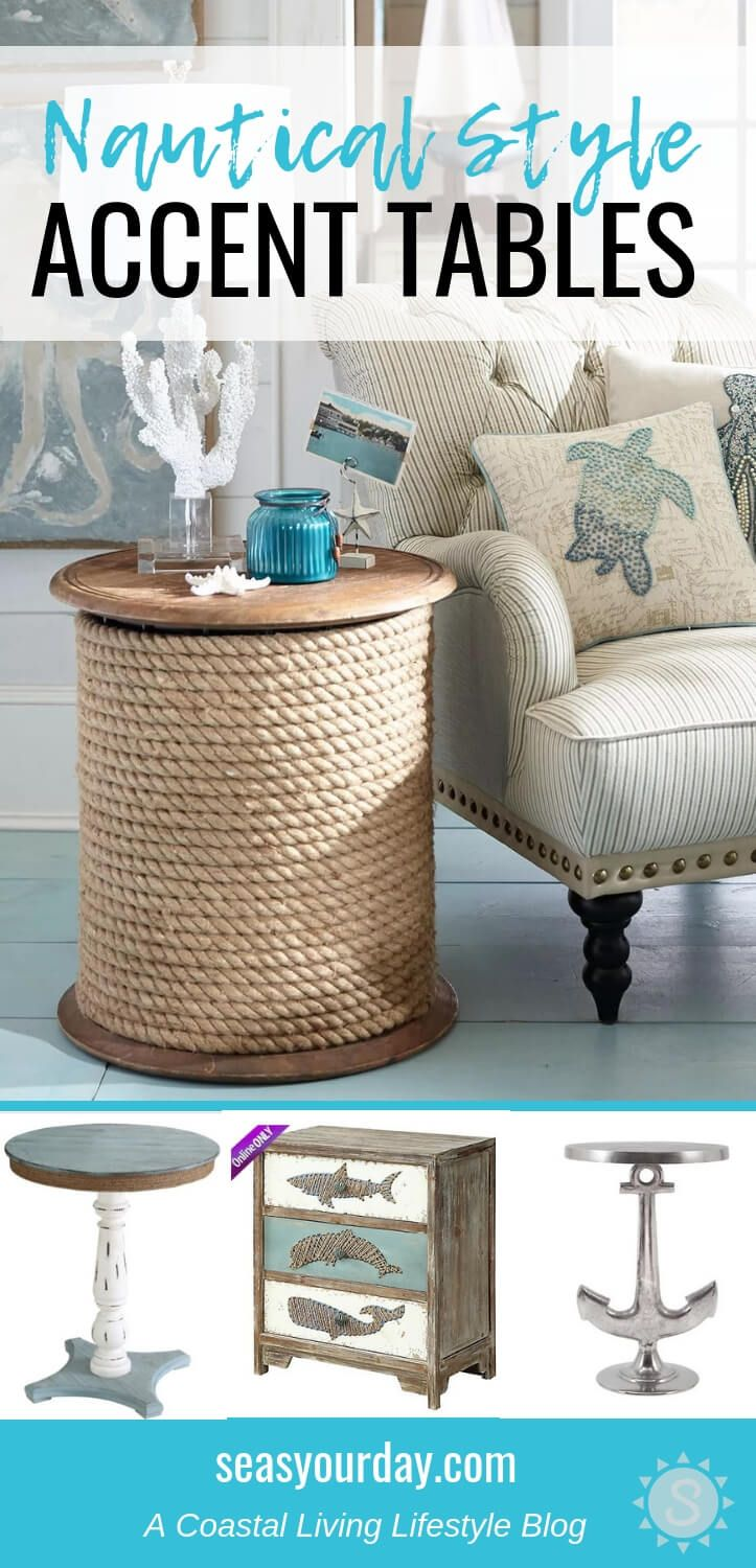 Photo of Nautical Style Accent Tables   DIY Ideas and an easy Knock-Off Project – Seas Your Day
