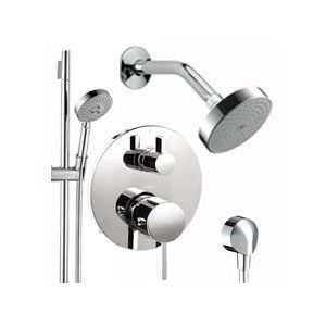 Hansgrohe Hg T201 Chrome S S Shower Faucet With Thermostatic Trim