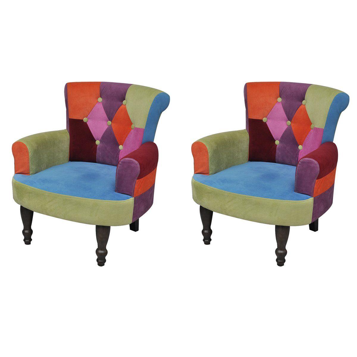 stuhlsessel sessel stuhl retrostil patchwork bunt armlehnenstuhl 2 st ck we 39 re in berlin. Black Bedroom Furniture Sets. Home Design Ideas
