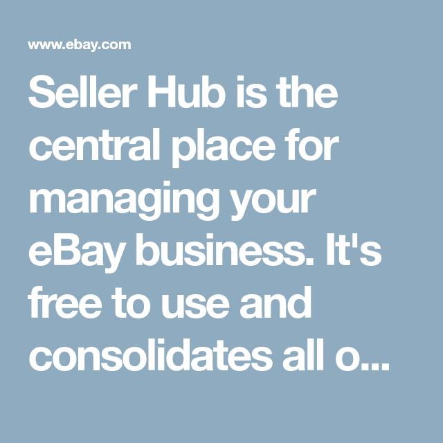 Seller Hub Ebay Business