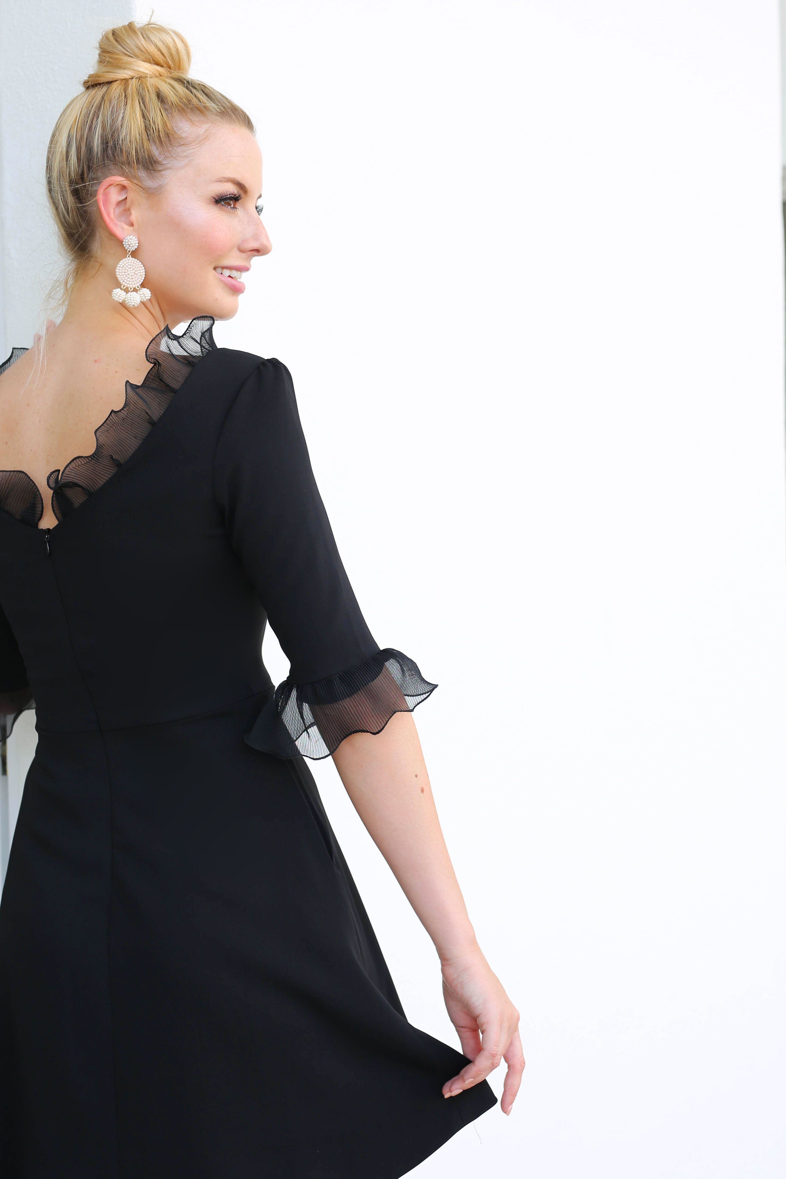 The co co dress in black camilyn beth wedding guest dress