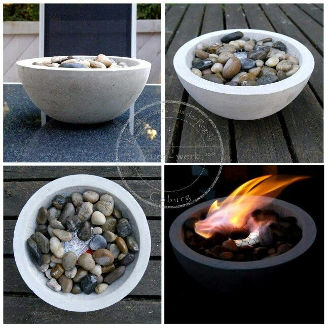 outdoor beton feuerschale feuer und wasser. Black Bedroom Furniture Sets. Home Design Ideas