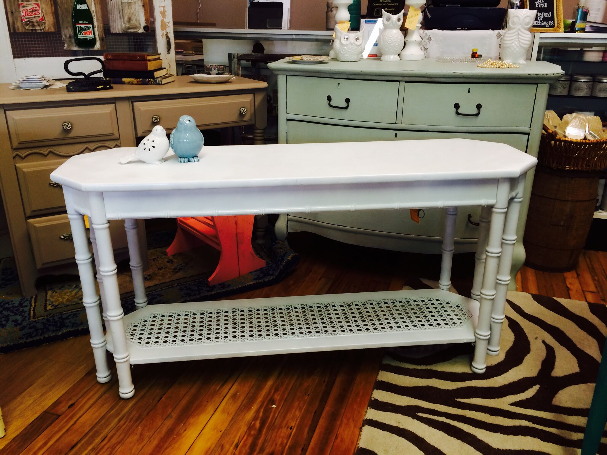 Sofa Table Painted In Amy Howard White Perfection Lacquer Wwwfacebookcomvintagedreamzzz
