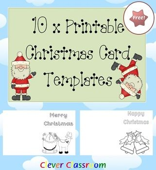 Free printable christmas card templates free printable of the day free 10 x printable christmas card templates pdf file your free christmas card templates have been designed with the busy teacher in mind m4hsunfo