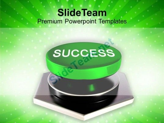 Success Button Technology Profit Powerpoint Templates Ppt Themes And