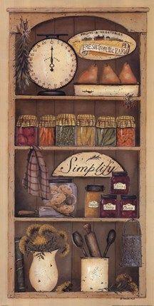 Farmhouse Pantry I by Pam Britton art print