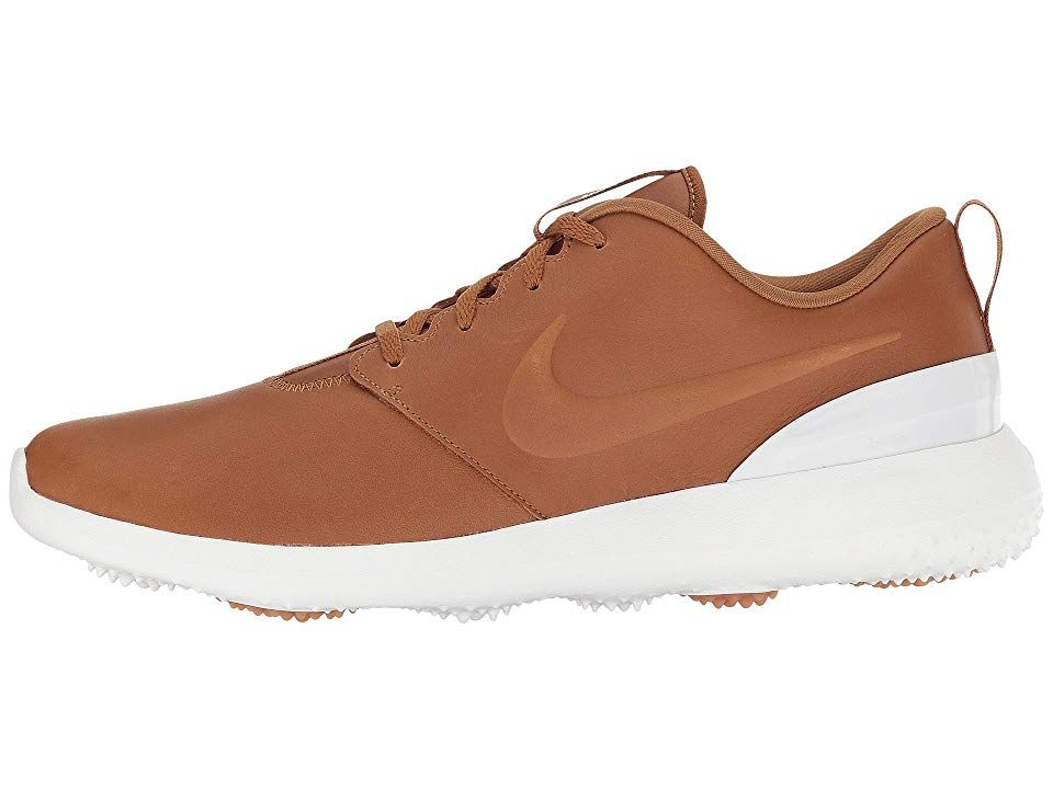 new product f545a da3d4 Nike Golf Roshe G PRM Men s Golf Shoes Brown Brown Summit White