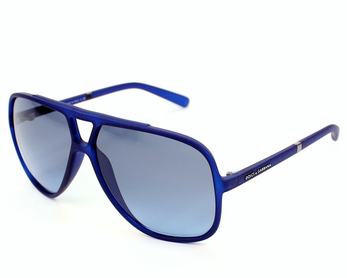 991f2b3e8713 Dolce & Gabbana Mens sunglasses. Reference DG6081 2650/8F - 60, frame in  Acetate colour Blue with Grey blue Gradient lenses and UV protection: 3.
