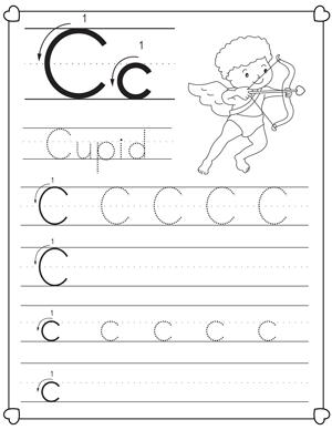 26 christmas themed letter tracking worksheets for preschoolers alphabet tracing letters. Black Bedroom Furniture Sets. Home Design Ideas