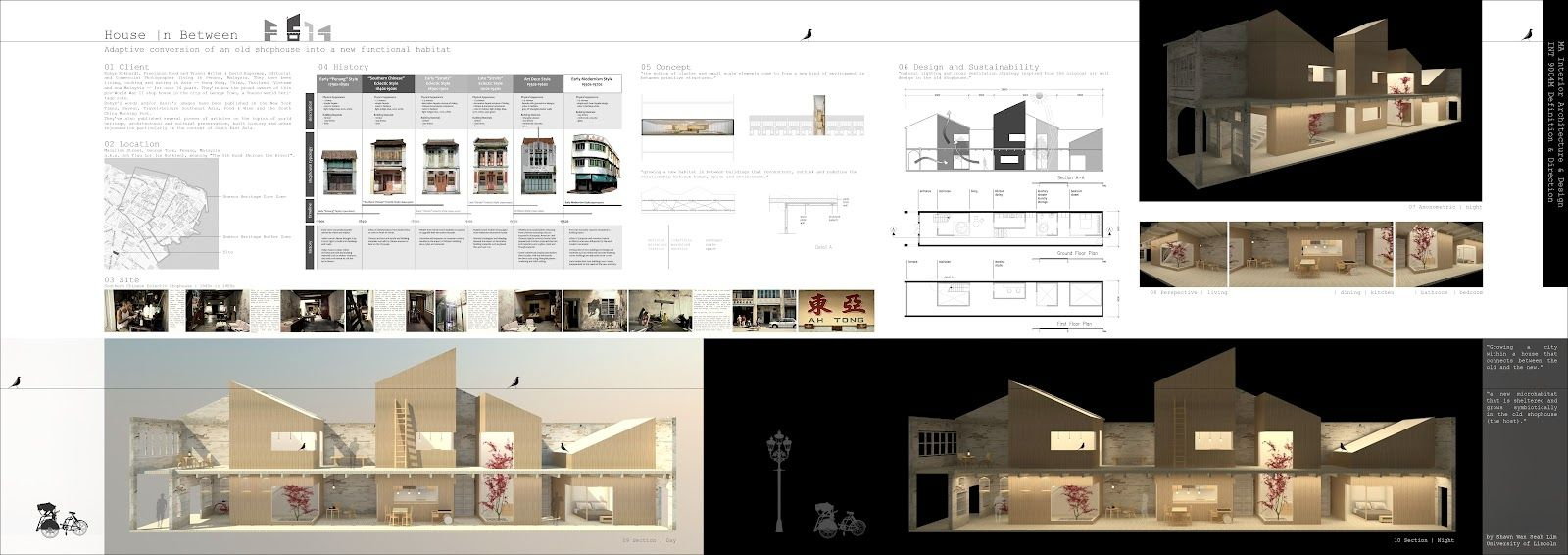 Architecture Design Presentation interior architecture + design: shophouse conversion in george
