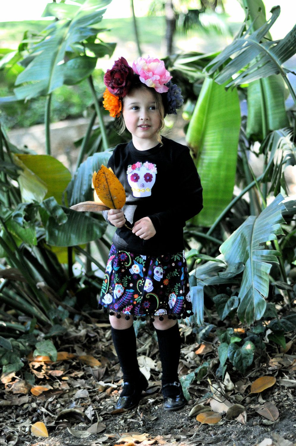Day of the Dead Skirt Set for Toddlers by Kelley Hart Creations