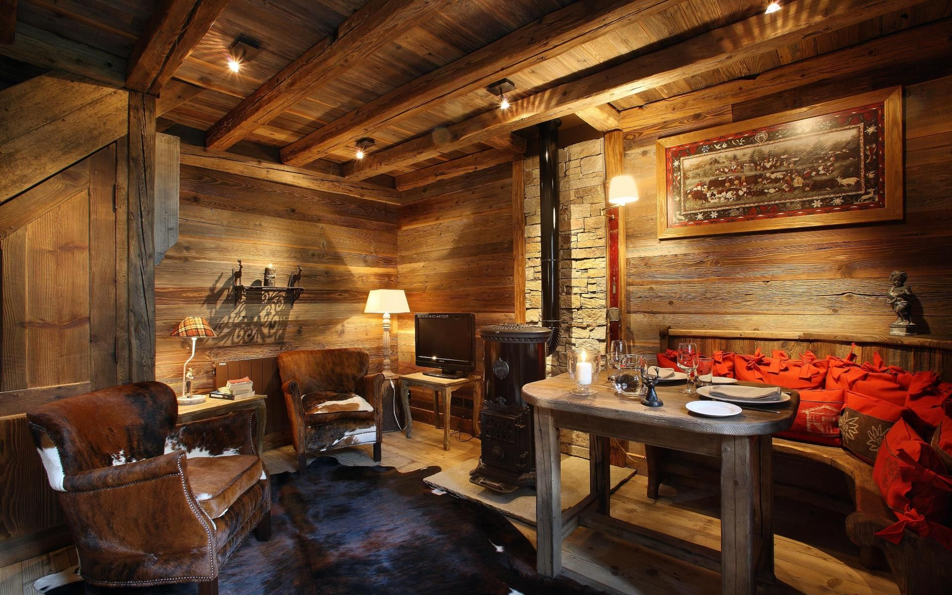 Luxury Ski Chalet, Petite Marmotte Lodge, Courchevel 1650, France, France
