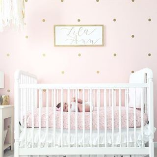 Just A Little Pink And Gold Nursery Dreaminess On This Fab Friday