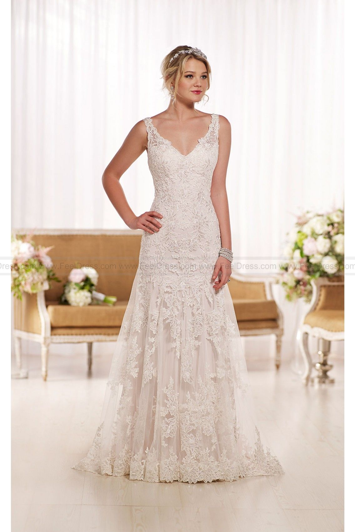 Essense of australia lace a line wedding dress style d
