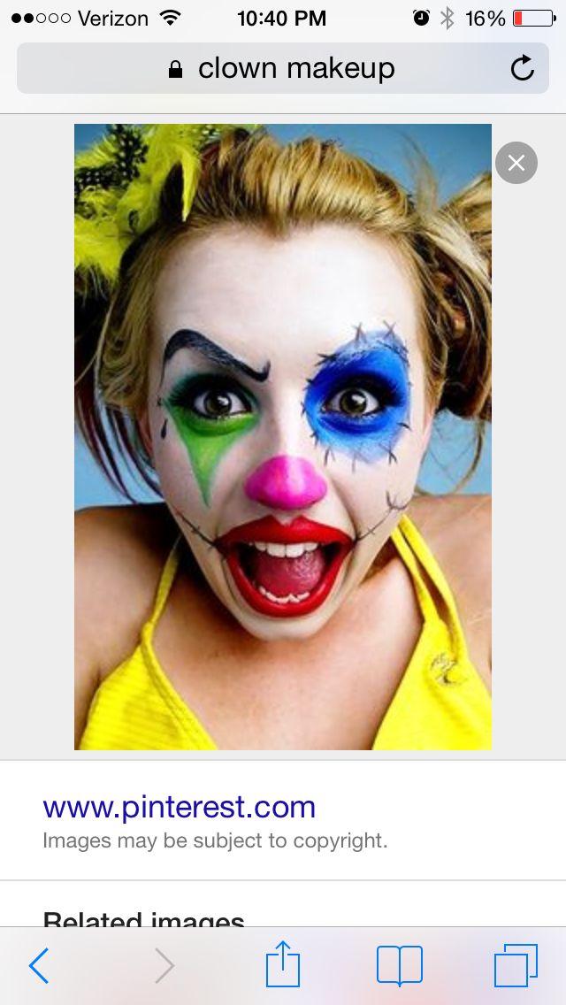 Pin by Mekesha Malmgren Wanner on Drill Pinterest - clown ideas for halloween