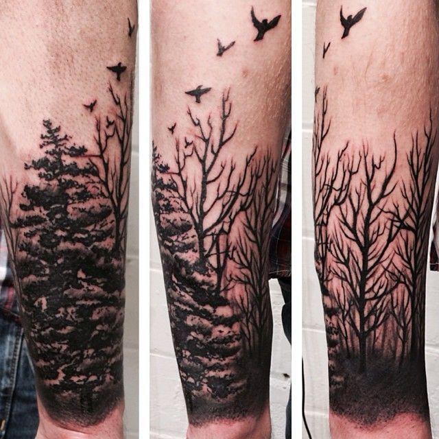 forearm sleeve: Forests Tattoo Tattoo Ideas Birds Tattoo Tattoo ...