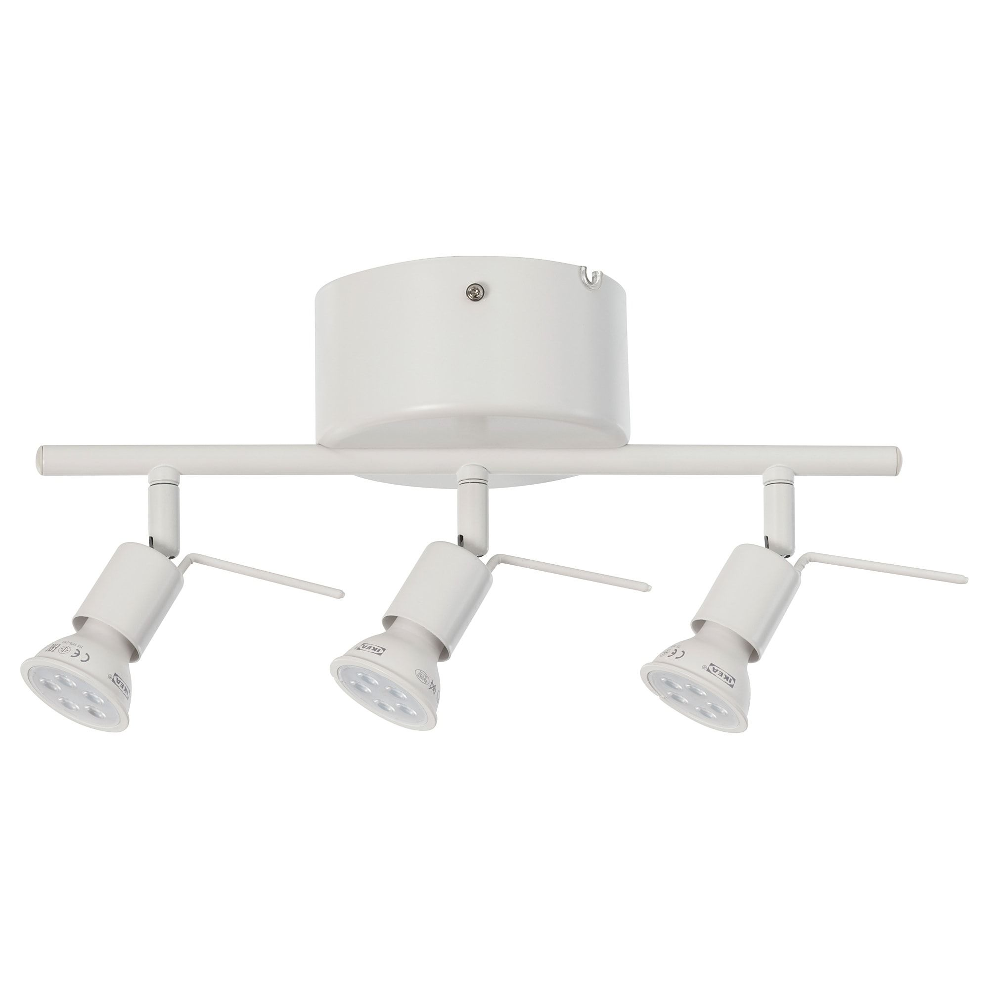 Tross Takskena 3 Spots Vit Ikea Ikea Led Ceiling Spotlights Ceiling Lights